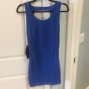 bebe Blue Bodycon Mini Dress